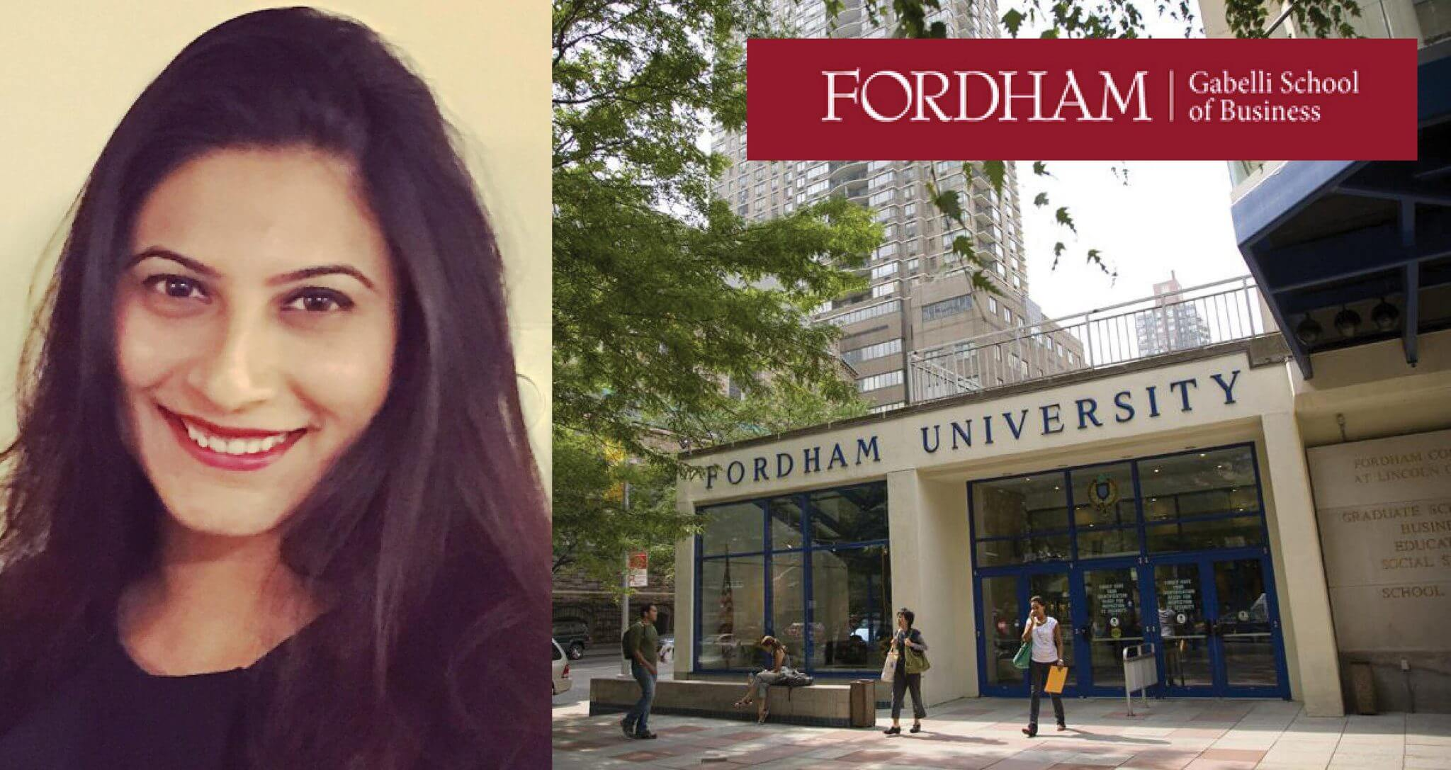 Fordham Graduation 2020.Student Spotlight Gabelli School Of Business Samyukta